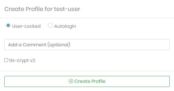 new user profile screenshot