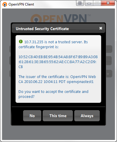 HOWTO Connect Client Configuration VPN Step 4
