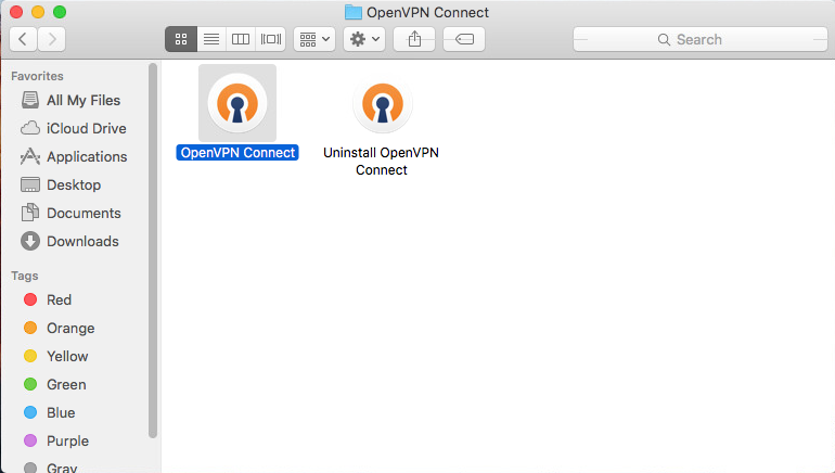 In Applications, OpenVPN Connect is now ready for use