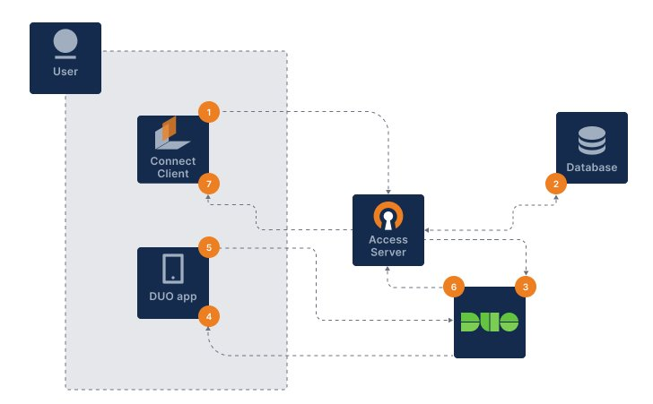 duo 2fa flow for access server