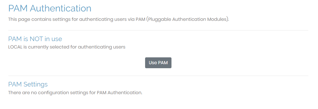 pam authentication