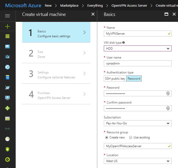 Microsoft Azure BYOL appliance quick start guide | OpenVPN